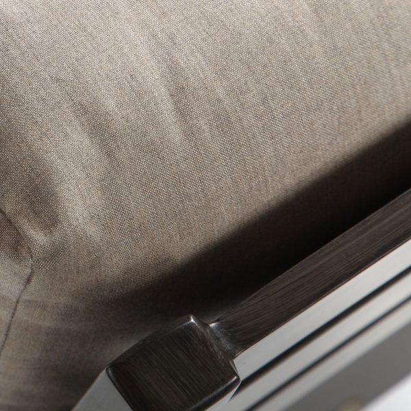 Ratana aluminum sectional furniture with a Ash Grey powder coat finish