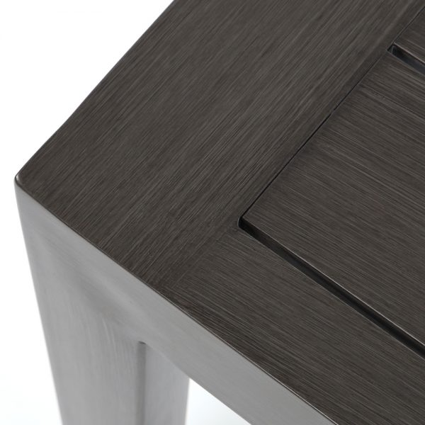Lucia side table with a Ash Grey powder coat finish