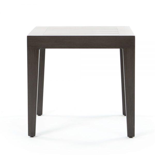 Ratana aluminum end table front view