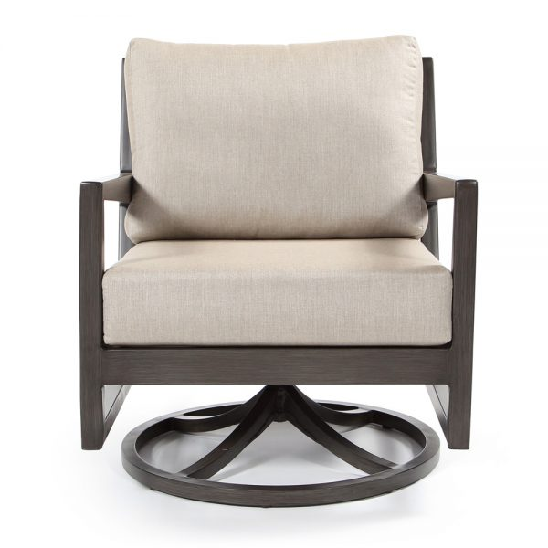 Ratana Lucia swivel club chair front view
