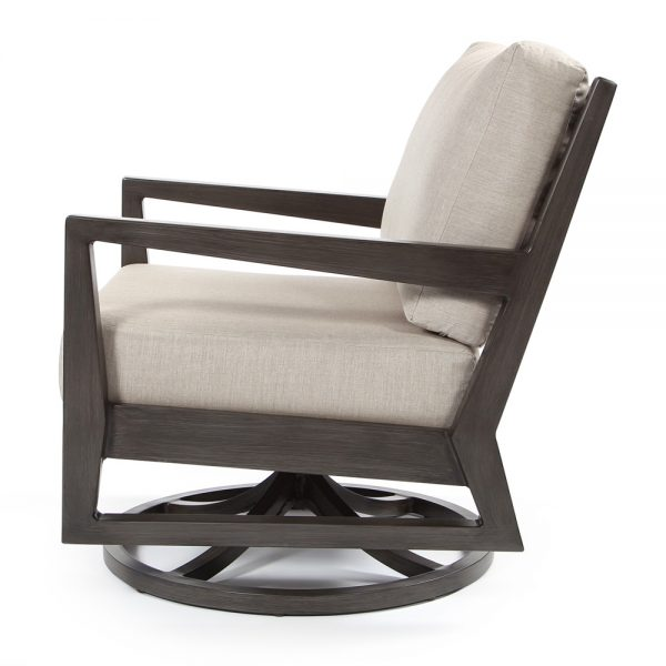 Lucia outdoor swivel lounge chair side view