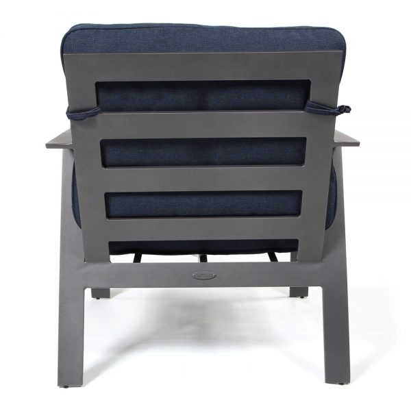 Luxe cast aluminum lounge chair back view