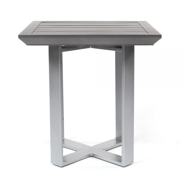 """Pride Moderna 20"""" square side table front view"""