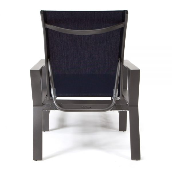 Trento sling patio chaise lounge back view