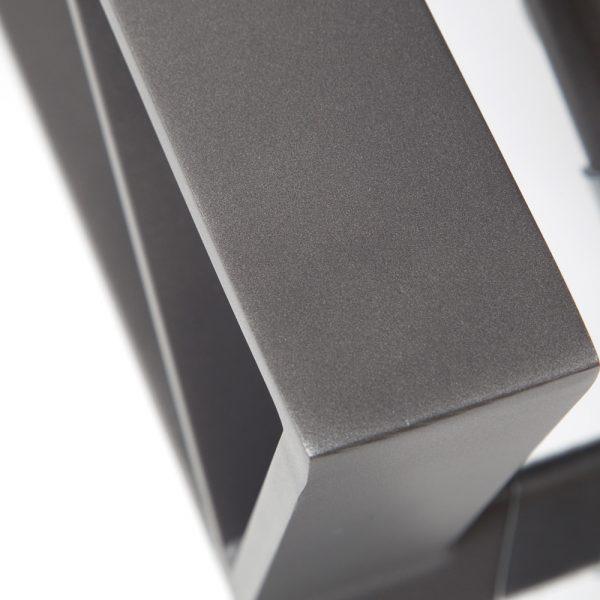 Cast aluminum chaise lounge with a Matte Gunmetal powder coat finish