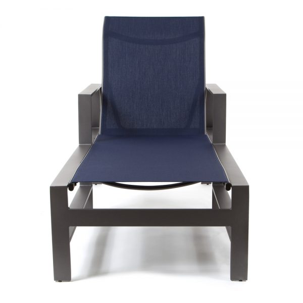 Castelle Trento sling outdoor chaise lounge front view