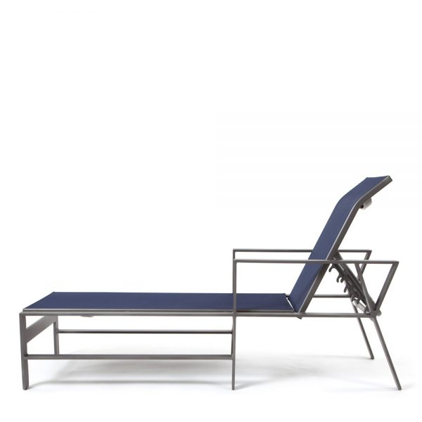 Price Trento sling chaise lounge side view