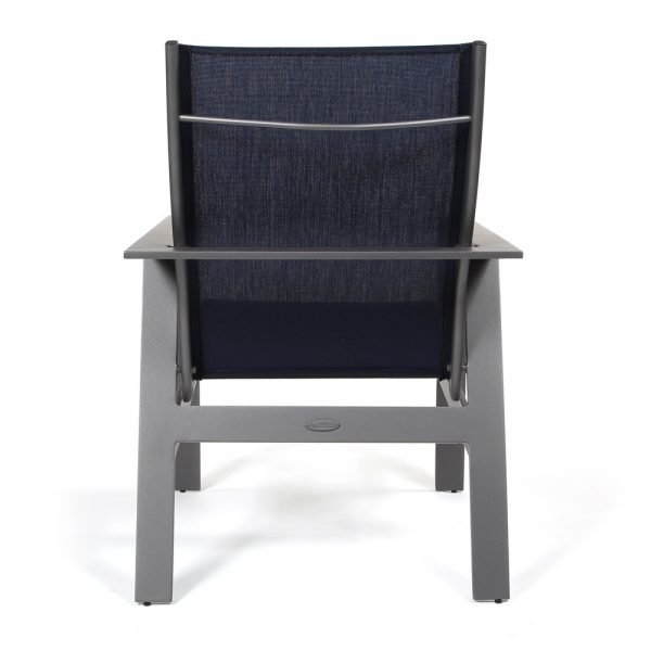 Trento outdoor sling dining chair back view