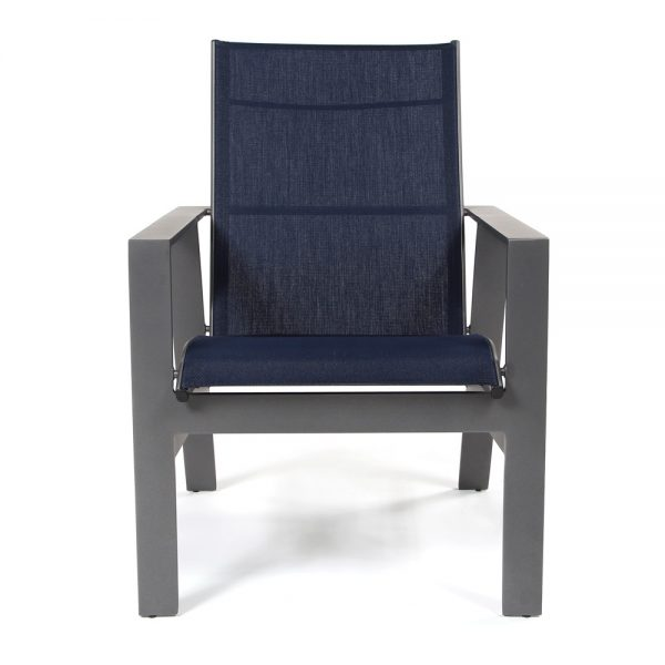 Pride Trento sling dining chair front view