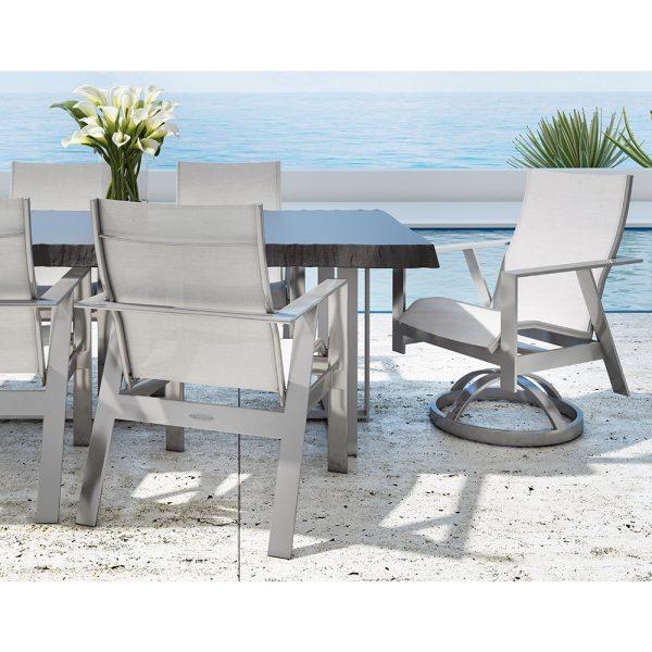 Pride Trento sling patio dining furniture