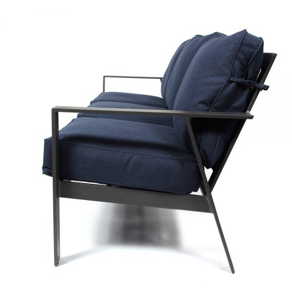 Pride Trento cast aluminum sofa side view