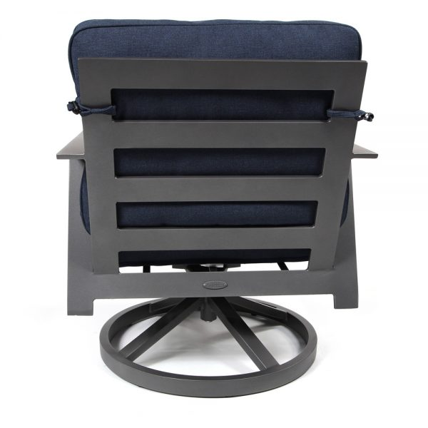 Trento swivel rocker lounge chair back view
