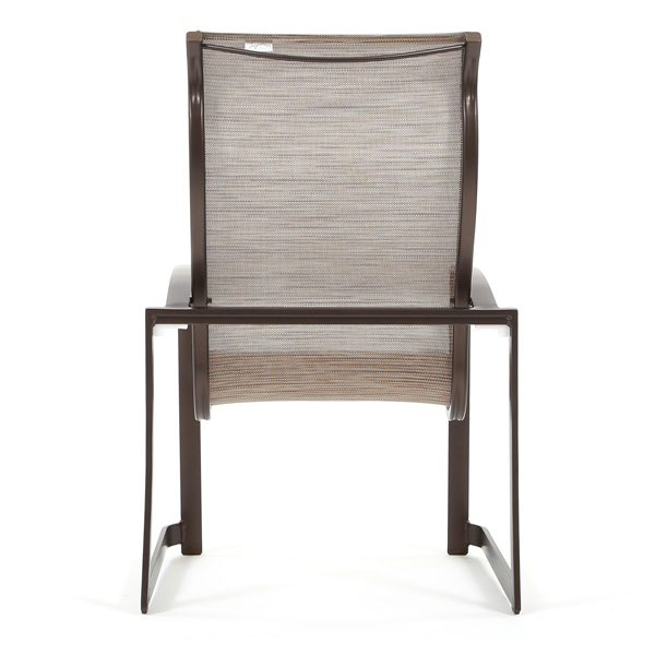 Mainsail sling high back patio dining chair back view