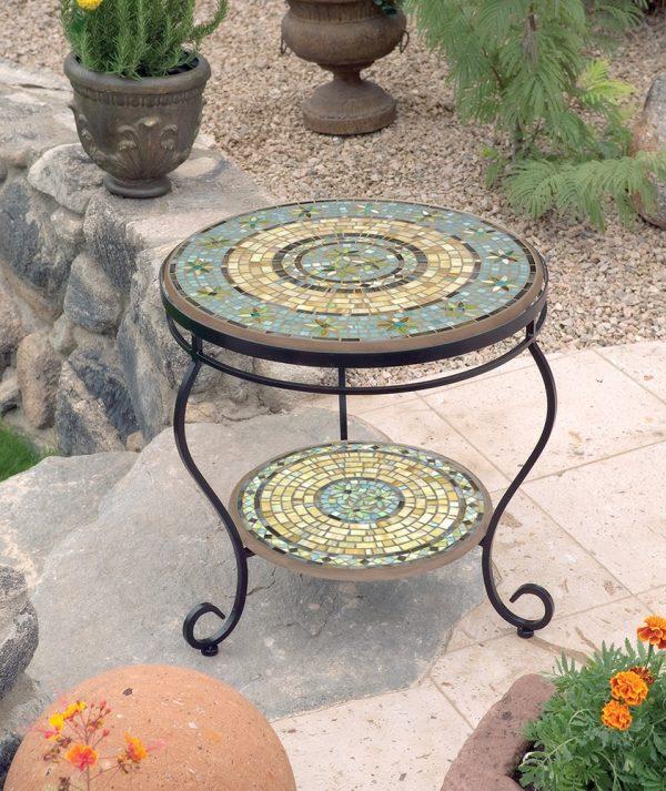 KNF - Neille Olson outdoor Malibu mosaics table