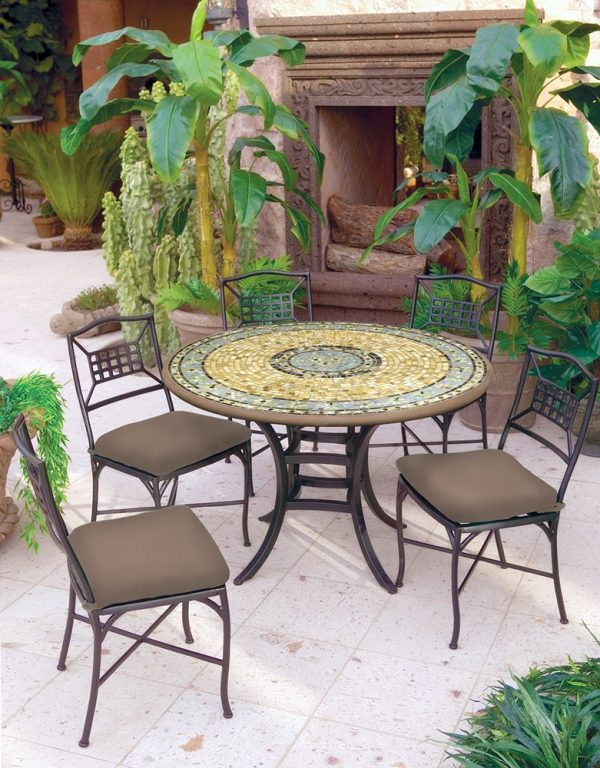 Neille Olson Malibu mosaics patio table