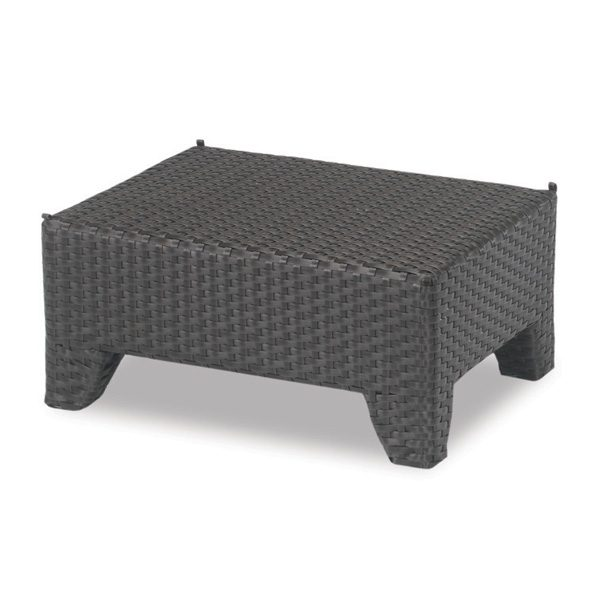 Malibu outdoor wicker ottoman without the cushion