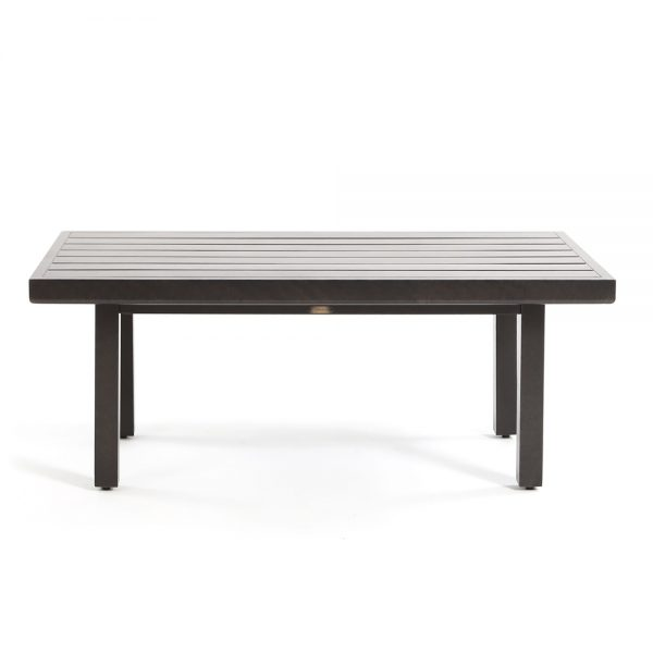 Mallin aluminum patio coffee table front view