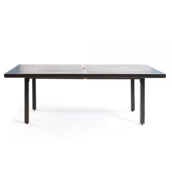 "42"" x 84"" aluminum patio dining table"