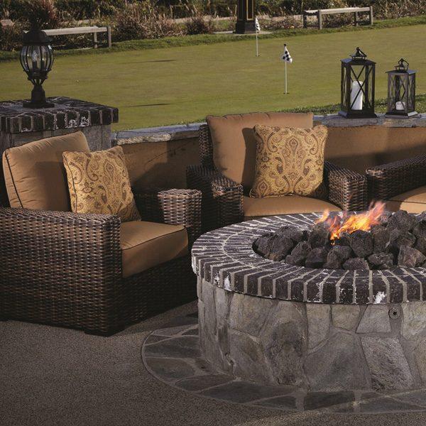 Sunset West Montecito Wicker club chairs