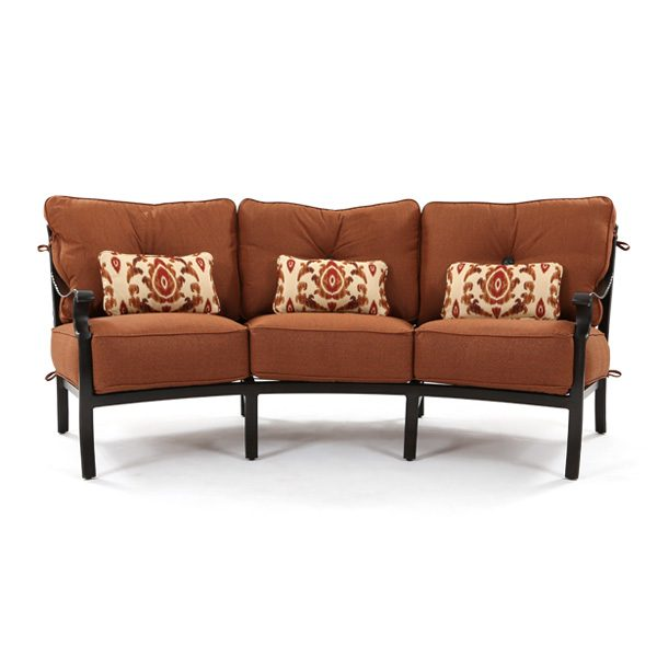 Castelle Monterey outdoor curved sofa front view