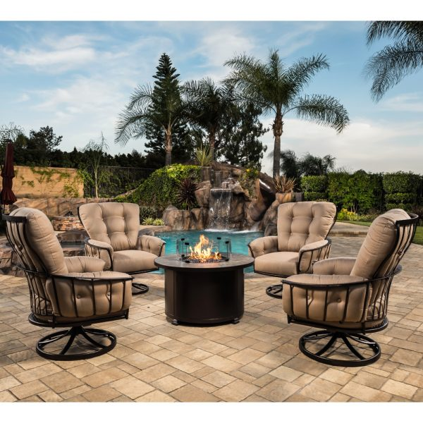 Classico wrought iron fire pit chat set
