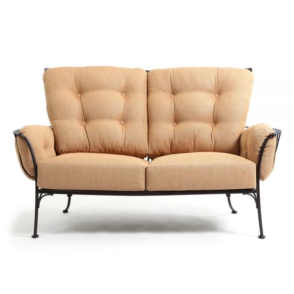 O.W. Lee Monterra outdoor love seat front view