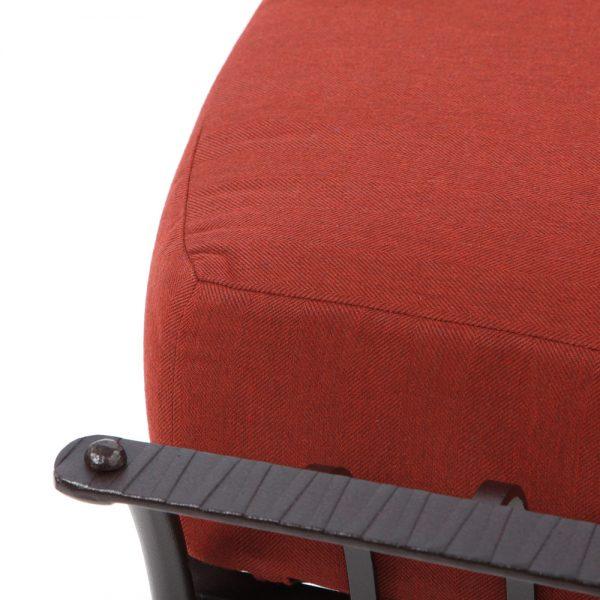 O.W. Lee Monterra Sunbrella Merlot fabric detail