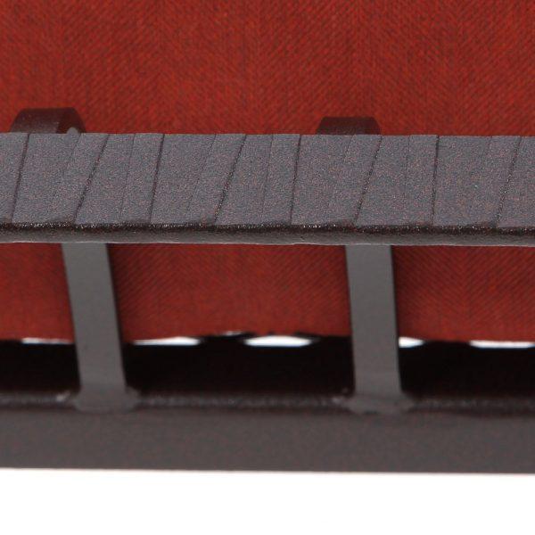 O.W. Lee Monterra wrought iron Rosewood frame detail