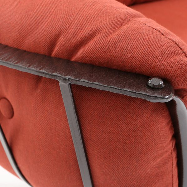 O.W. Lee Monterra Rosewood wrought iron frame finish detail