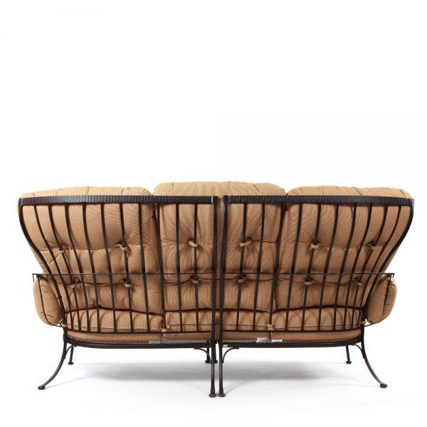 Monterra outdoor three seat sofa back view