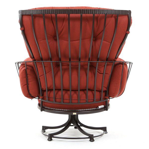 Monterra patio swivel club chair back view