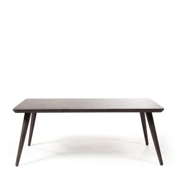 Ebel Nola aluminum coffee table front view