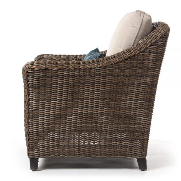 Oak Grove outdoor wicker lounge chair side view
