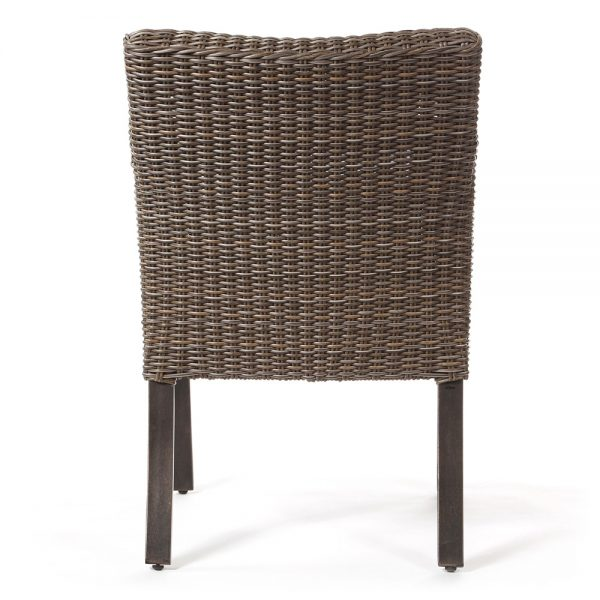 Agio Oak Grove wicker dining chair back view