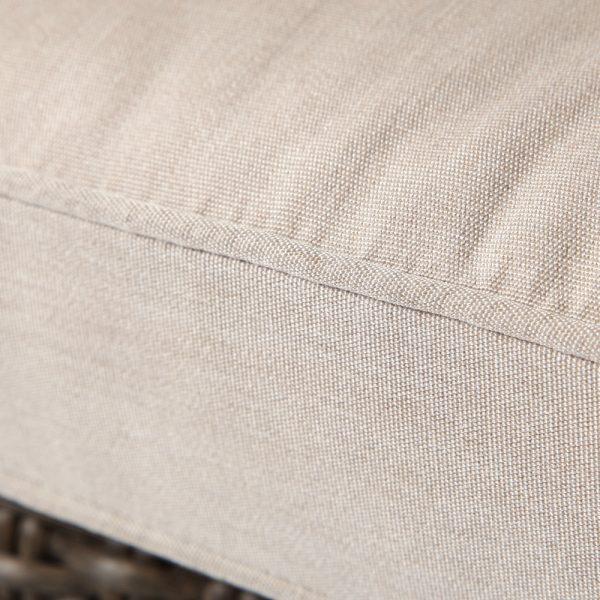 Oak Grove dining chair with Sunbrella Canvas Flax cushions