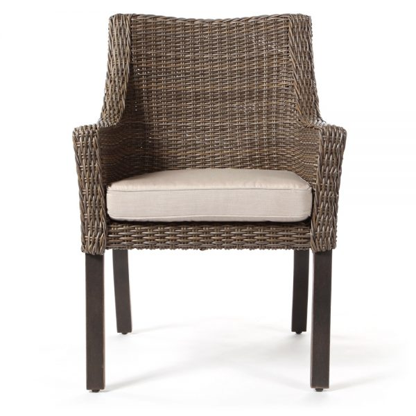 Apricity Oak Grove wicker dining chair front view