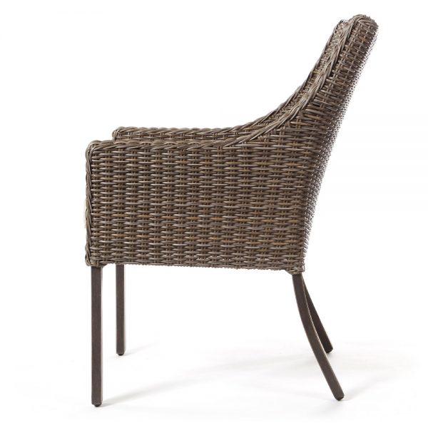 Oak Grove outdoor wicker dining chair side view
