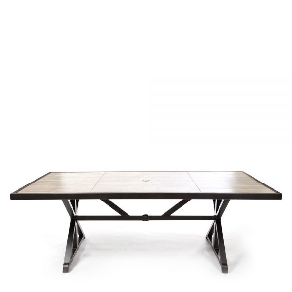 Apricity Oak Grove aluminum dining table front view