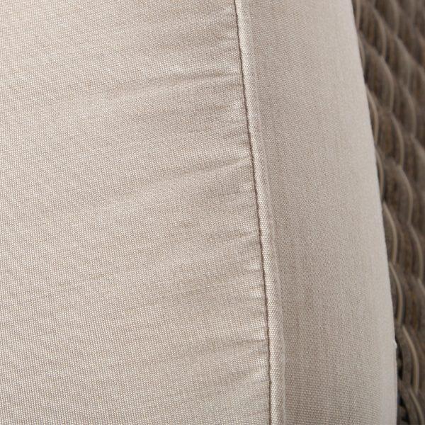 Oak Grove ottoman with Sunbrella Canvas Flax cushion