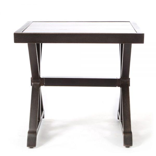 Oak Grove aluminum side table front view