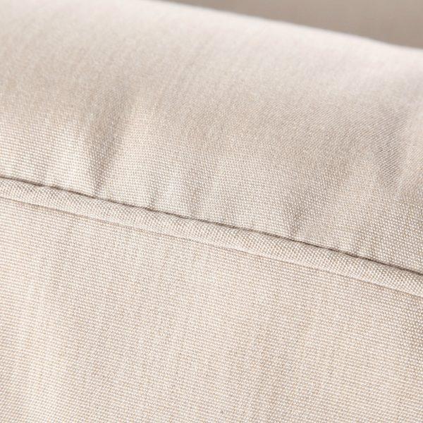 Agio Oak Grove sofa with Sunbrella Canvas Flax cushions