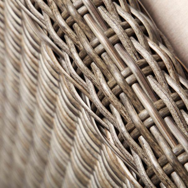 Oak Grove wicker sofa with a Driftwood weave