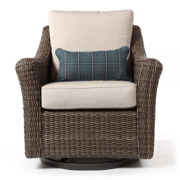 Oak Grove swivel rocker lounge chair front view