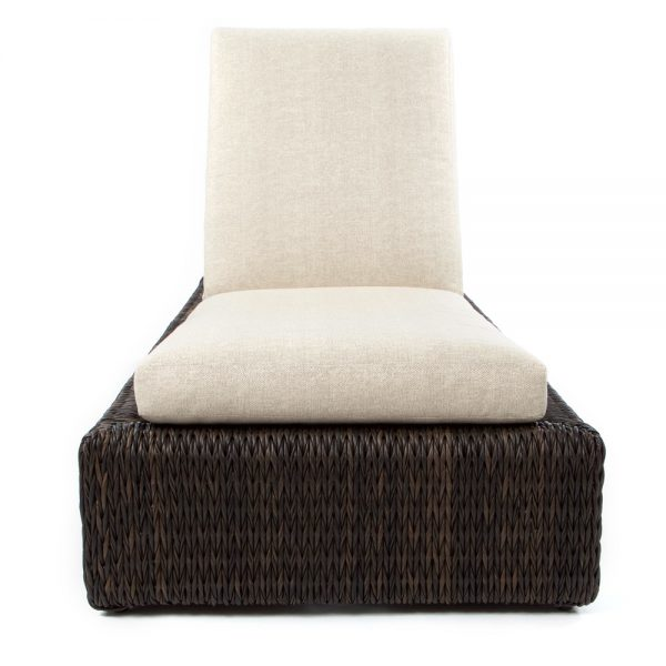 Ebel Orsay outdoor wicker chaise lounge front view