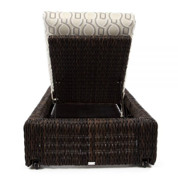 Orsay woven chaise lounge back view