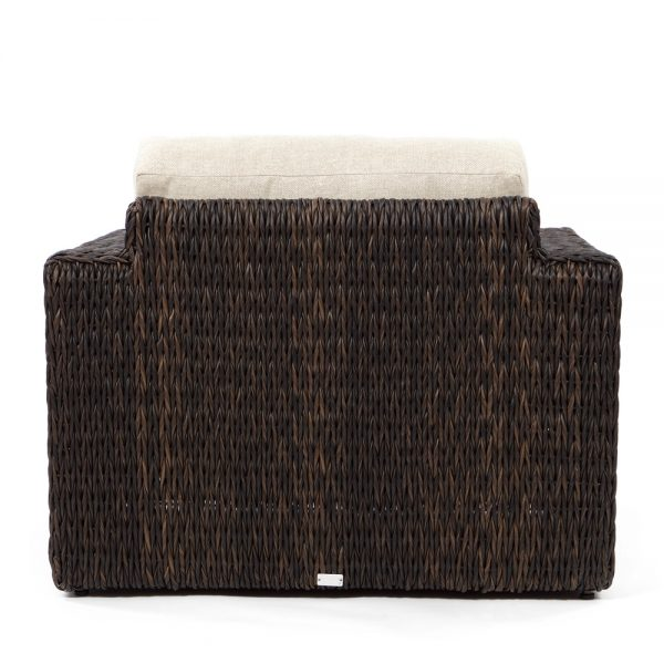 Orsay wicker patio club chair back view