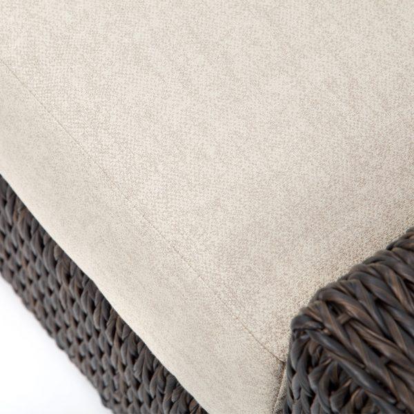 Ebel Orsay love seat with Sunbrella Chartres Malt cushions