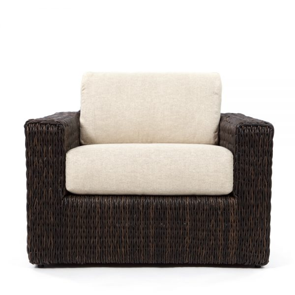 Ebel Orsay outdoor wicker club chair front view