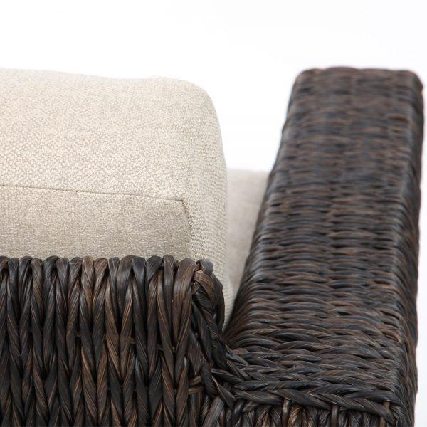 Ebel Orsay wicker love seat with a Espresso weave