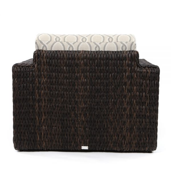 Orsay outdoor wicker club chair back view